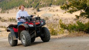 Woman on ATV