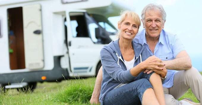 Mature Couple and Their Motorhome